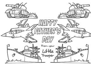 Colour in Father's Day Cards