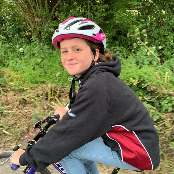 Daisy Sears riding for Little Troopers and Blood Cancer UK