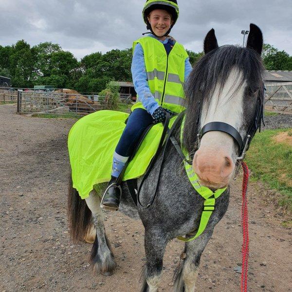 Grace and her pony Cwki