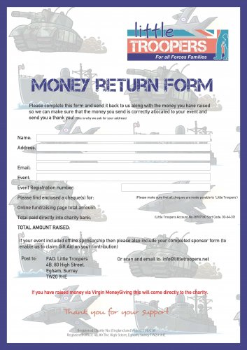 Money Return Form 2019